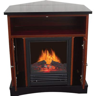 Lighting Essentials Electric Corner Fireplace 5115 Btu Black Corner Fireplace
