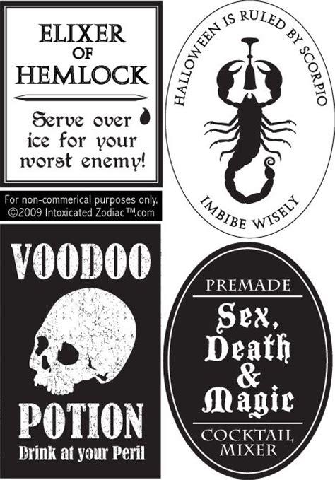 printable drink labels bottle labels