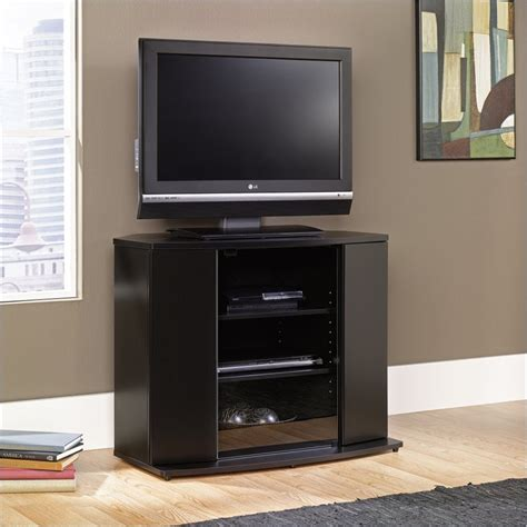 black corner tv stand sauder select corner black tv stand ebay
