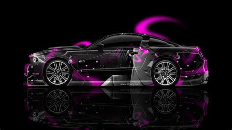 anime mustang ford mustang gt side anime aerography car 2014 el tony