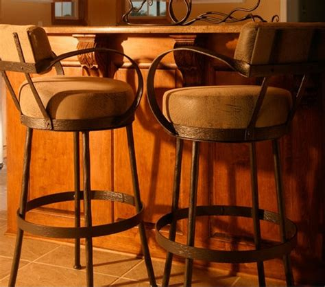 Iron Bar Stools With Arms by Rustic Counter Stool Wrought Iron Bar Stools With Arms