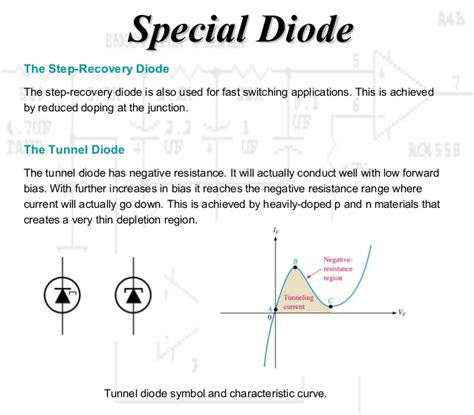 symbol of step recovery diode working principle diode and special diode