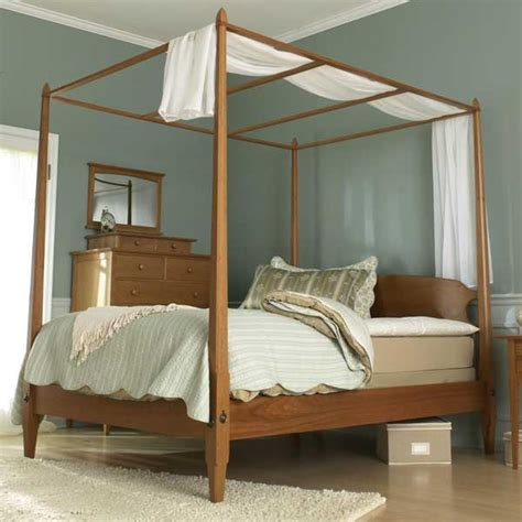 pencil post bed woodworking plan from wood magazine