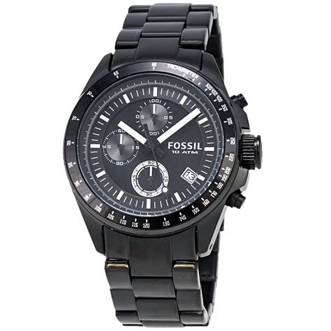 fossil ss fossil decker ch2601p chronograph black stainless steel