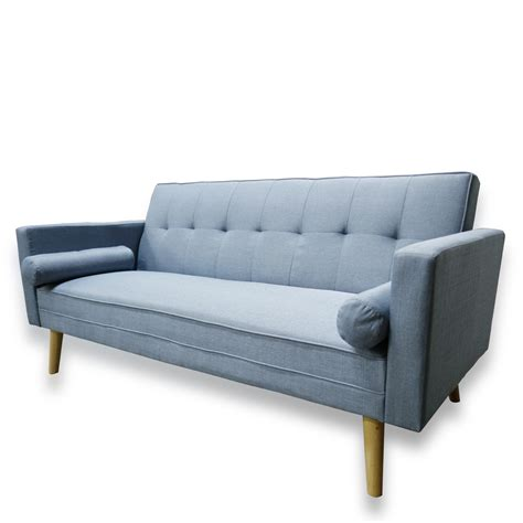 fold down couch bed amy brand new blue or grey fabric click clack sofa bed