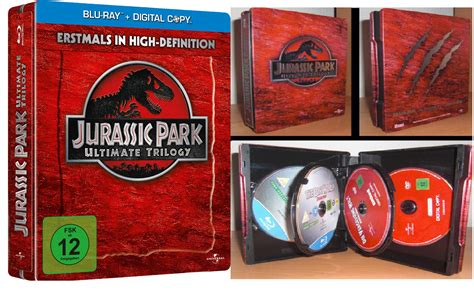 Original Jurassic Park Ultimate Trilogy jurassic park ultimate trilogy limited steelbook edition aragornn esta te va a encantar