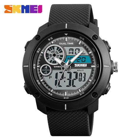 Skmei Jam Tangan Analog Digital Pria Wanita Ad0821 Anti Air skmei jam tangan digital analog pria 1361 black