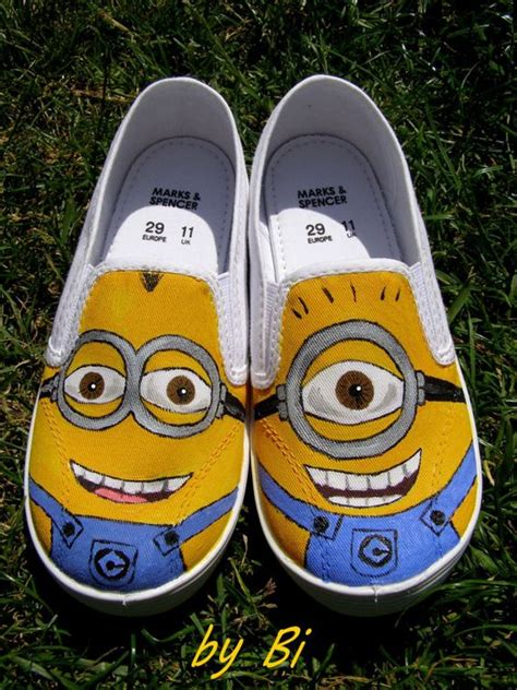 diy minion shoes custom painted canvas shoes any characters from