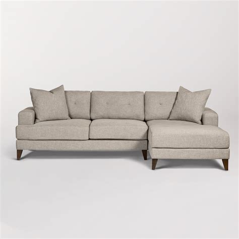 facing sofas sidney sectional right arm facing alder tweed furniture