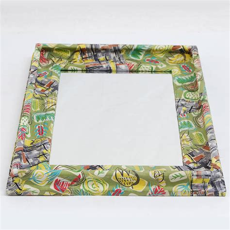Decoupage Mirror - fifties fabric decoupage mirror by tilt originals