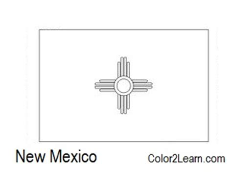 New Mexico Flag Coloring Page state of new mexico flag and map coloring pages