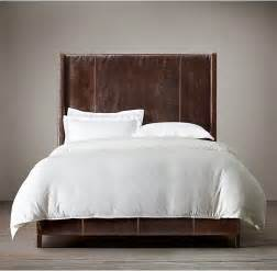 King Bed Leather Headboard Low High Back Leather Headboard King Bed