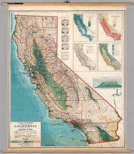 pin california physical map northern southern on
