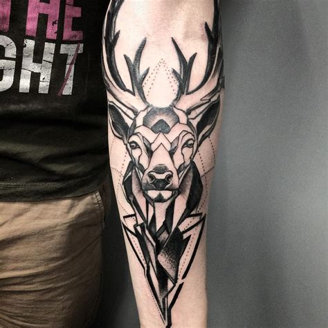 deer head tattoo design 60 deer tattoos ideas and meanings