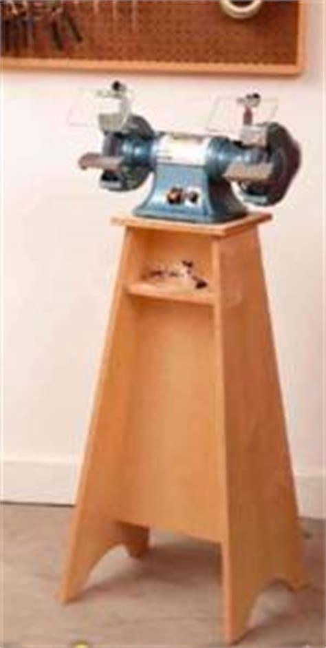 how to make a bench grinder stand workshop furniture and storage at woodworkersworkshop com