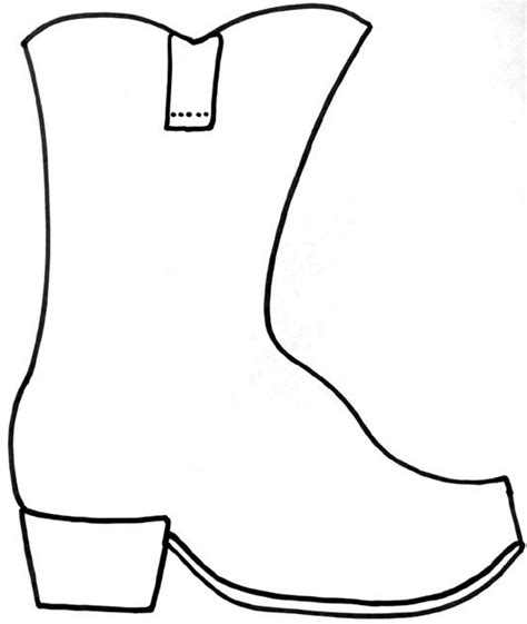 Cowboy Boot Craft Copy Onto Brown Construction Paper Or Just White Paper Have Kids Cut It Out Boot Template