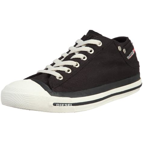 diesel shoes diesel exposure low black white womens canvas new trainers