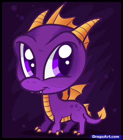 how to draw chibi spyro step by step chibis draw chibi