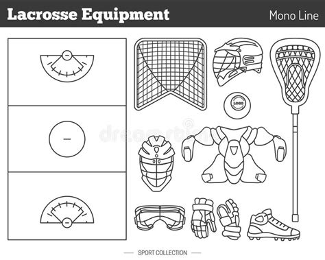 game design elements in vector from stock 7 25xeps vector lacrosse game design elements stock vector