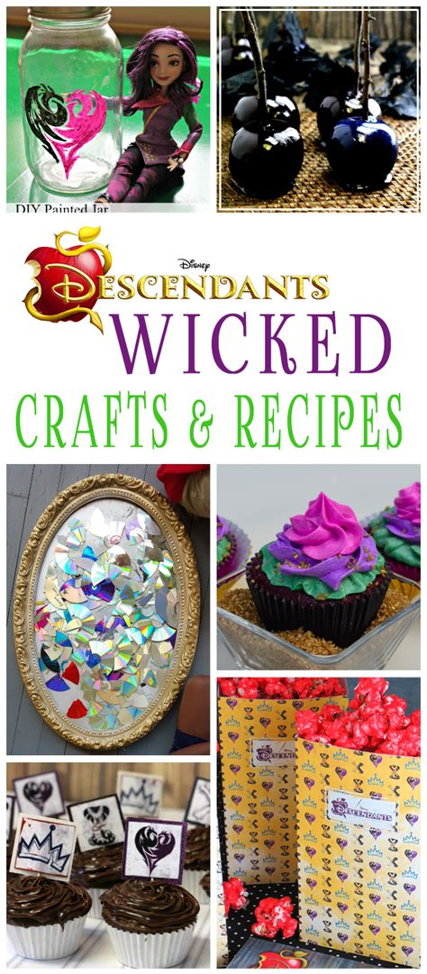 disney descendants party ideas food crafts and family 20 wicked disney descendants crafts and recipes glitter
