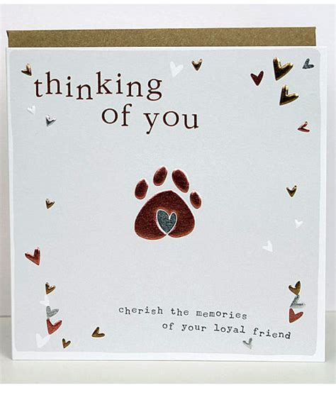 Template For Pet Sympathy Card by Pet Sympathy Cards Molly Mae Thinking Of You Cards For