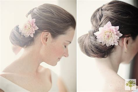 Wedding Hairstyles With Real Flowers by Details Flowers Hairstyles Real Weddings Wedding