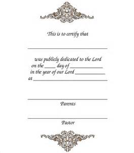 dedication template baby dedication certificate template 19 free word pdf