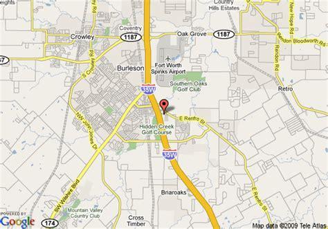burleson texas map map of best western burleson inn suites burleson
