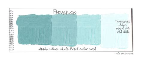 color swatch cards of color provence chalk paint 174 by