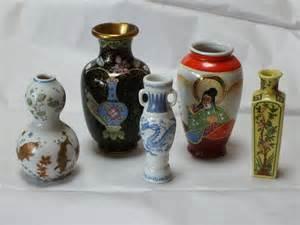 sale miniature japanese vase assortment 5 vintage pieces