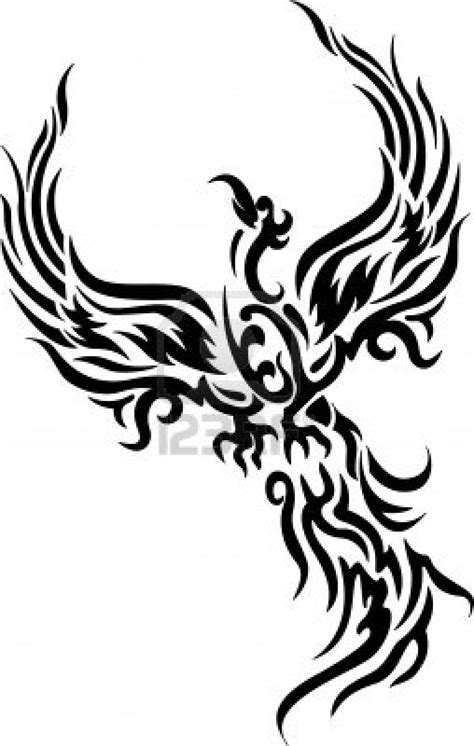 tribal phoenix bird tattoo stencil tattooshunt com