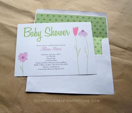 do it yourself invitations templates create baby shower invitations