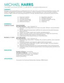 simple accounting amp finance resume examples livecareer