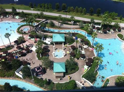 Disney Vacation Club Floor Plans view from our room lazy river picture of hilton orlando