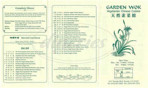 Garden Wok Garden Wok Menu Tarzana Dineries