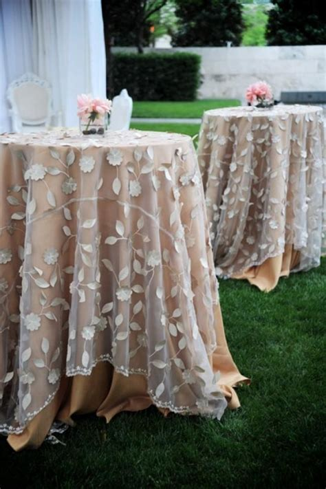 country wedding lovely overlays table linens 2031720