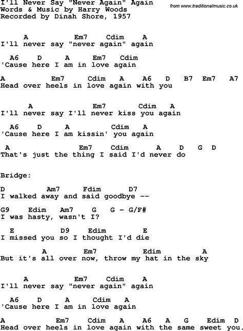 song lyrics with guitar chords for i ll never say never