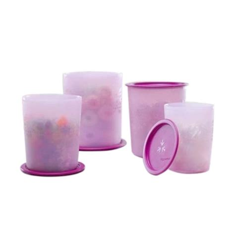 Tupperware Ungu jual tupperware set mosaic canister ungu set 4 pcs