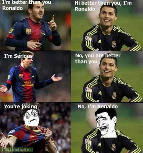 Ronaldo Crying Meme - messi getting trolled troll football