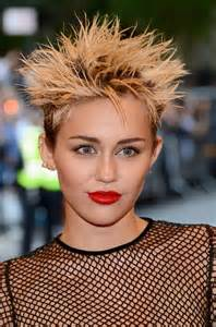 miley cyrus hairstyle name miley cyrus short spiked punk haircut styles weekly