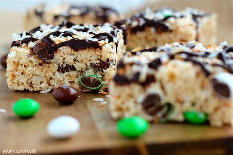 coconut treats rice crispy treats with coconut