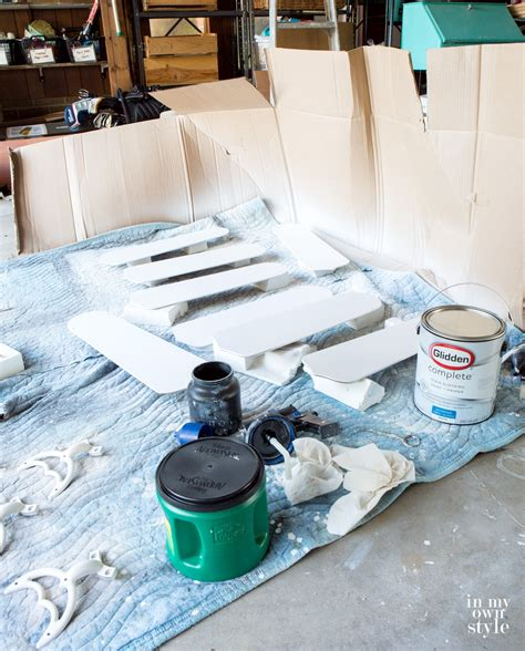 spray painter diy how to paint a ceiling fan without taking it in my