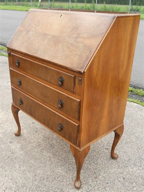 queen anne writing walnut writing bureau in the queen anne style