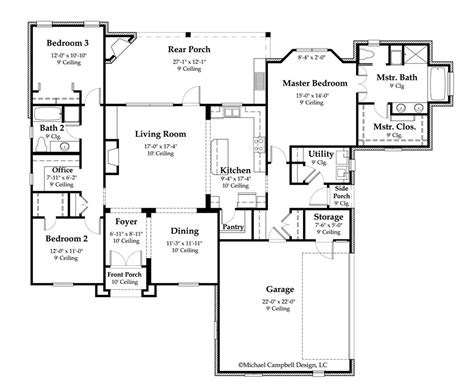 French Country Floor Plans House Plans On Pinterest House Plans Floor Plans And