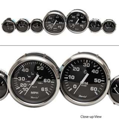 inboard boat gauges faria tc9257a stratos custom outboard boat tachometer gauge