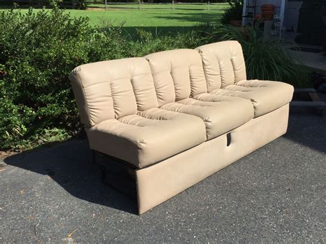 couch stream faux leather fold down couch from 2000 excella