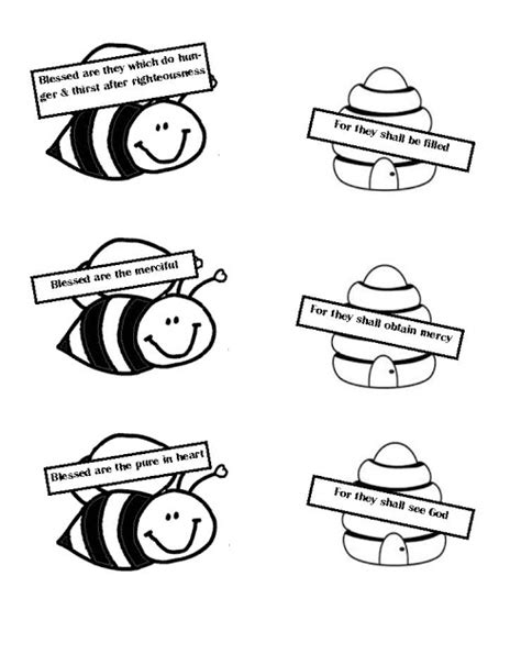 bee attitudes coloring pages matthew 5 11 coloring pages
