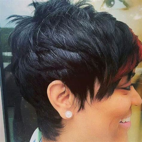 nahja azin like the river salon hair style images pop of color like the river salon is talented short