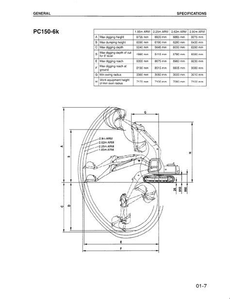 Komatsu PC150-5 PC150-6K PC150LC-6K Hydraulic Excavators