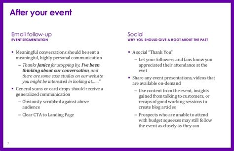 thank you letter attending business event event before during after